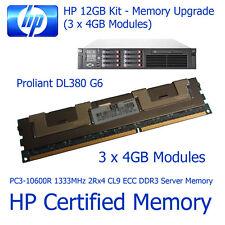 12gb kit di aggiornamento della memoria HP ProLiant dl380 g6 pc3-10600r server di memoria ddr3 ecc