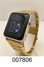 Apple Watch Series 3 38mm GPS Silver Case Gold Band