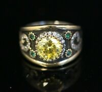 925 Sterling Silver Handmade Gemstone Turkish Quartz Ladies Ring Size 7