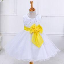 GIRLS Flower Formal Wedding Birthdaychristmas Bridesmaid Party Flower Dress