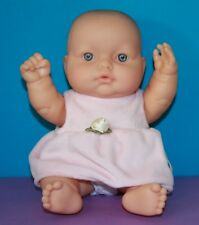 """LOTS TO LOVE Baby Doll BERENGUER 10"""" with Diaper & PINK DRESS JUMPER Caucasian"""