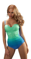 Womens Designer Fashion One Piece Swimming Costume Swimwear Swimsuit UK Sz 10-18