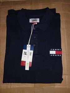 Original Tommy Hilfiger Men's Tipped Collar Polo Shirt (Navy) Size 2XL