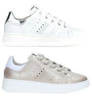 NERO GIARDINI TEEN P930991F scarpe donna sneakers pelle zeppa stringhe casual