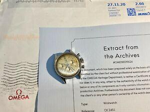 1951 Vintage Omega Chronograph Cal 321 Ref 2451 Pre SpeedMaster w EOA!