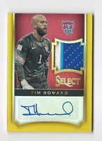 2015/16 Panini Select Tim Howard Auto Patch /5 Autograph 5/5 Gold