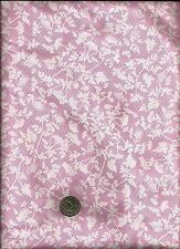 """Queen Anne's Lace"" Print white on rosy pink (peta) Fabric by Michael Miller"