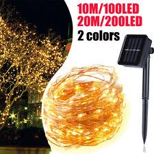 20M 200Led Solar String Lights Waterproof Copper Wire Fairy Outdoor Garden Xmas