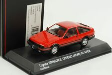 1 43 Kyosho Toyota Sprinter trueno (ae86) GT Apex Red/black