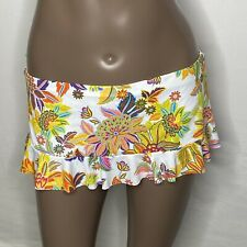 *Sz 4 BLEU Rod Beattie Floral Skirted Let the Sunshine In Swim Bottom Yellow
