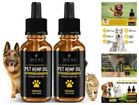 2 Pack 1000mg Hemp Oil for Dogs Cats Pets Organic Calming Dog Treats