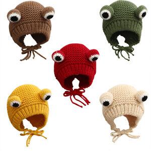Baby Hut Frühling und Herbst Baby Frosch Wollmütze für Säuglinge und Kinder *y
