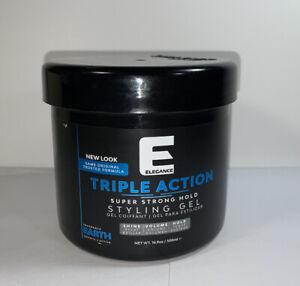 New Elegance Triple Action Styling Hair Gel 500ml Blue