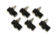 6 Lote Temco Heavy Duty 15a Micro interruptor de límite de émbolo SPDT Snap acción 125/250v