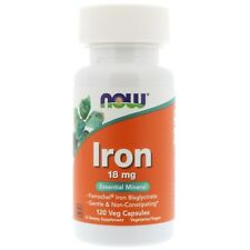 Iron - 120 - 18mg Veggie Caps by Now Foods - Essential Mineral
