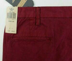 Dockers D3 Men's Pants 40 x 32 Red Classic Fit Flat Front Soft Khaki New MSRP$65