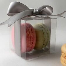 Clear square macaroon / macaron boxes - premium quality: pack sizes 10 to 500