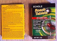 Echols Roach Tablets w/ Boric Acid(3) KILL ROACHES WATER BUGS ANTS NEW2oz