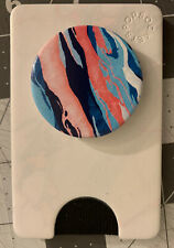 PopSockets Popwallet Plus Pink And Blue Marble Credit Card Holder Pop Wallet