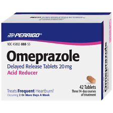 Perrigo Omeprazole Delayed Release Tablets, 20mg 42 COUNT (Pack of 2)