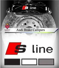Audi S LINE  Brake Calliper Decal Stickers FITS ALL MODELS High Temp Vinyl x6