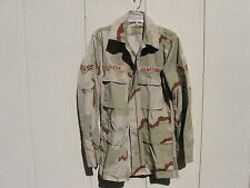 US AIR FORCE DESERT COMBAT UNIFORM COAT SIZE SMALL LONG WITH PATCHES BAXTER 2-G