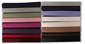 Top 14 Colors, All Sizes 200 Thread Count 100% Egyptian Cotton Flat Bed Sheets.