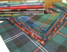 Tartan Fabric Patchwork Patches 15 Pieces