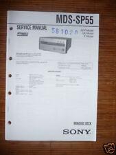 Service Manual Sony MDS-SP55 Mini Disc Deck,ORIGINAL