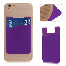 New Silicone Cell Phone Self Adhesive Sticker Back Cover Case Holder Card Pouch
