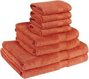 Luxurious 8 Piece Towel Set includes Bath Towel Hand Towel Washcloth 500 GSM