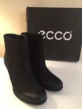 NEW IN BOX Women's ECCO Black Nubuck High Heeled Booties EU 39/US 8-8-1/2 Jaffna