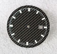 CARBON FIBER DIAL ETA 2824-2 2836-2 2804-2 2801 SW200 Superluminova 34,8 CADRAN