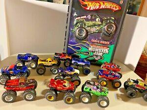 Hot Wheels Monster Jam Case with 12 Trucks Variety Toys    SKU 078-027