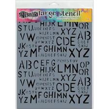 "Dyan Reaveley's Dylusions Stencils 9""X12"", Old School Alpha large"