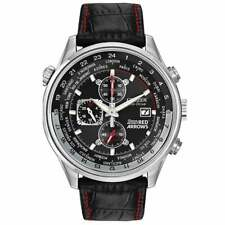 Citizen Mens Red Arrows Black Leather Strap Watch