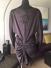 AUTH VINTAGE GIANFRANCO FERRE BURGUNDY SHORT DRESS TUNIC Sz M-L