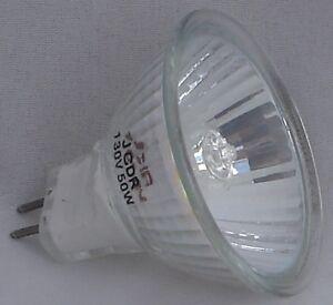 6 pcs. JCDR+C MR-16(w/cover) G5.3  50W 130V Flood Wide Beam Halogen Light Bulb