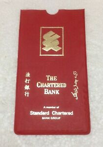 THE CHARTERED BANK RARE VINTAGE UNUSED SAVINGS ACCOUNT PASSBOOK PLASTIC COVER