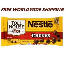 Nestle Toll House Semi-Sweet Chocolate Chunks 11.5 Oz FREE WORLDWIDE SHIPPING