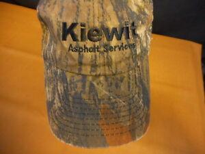 Kiewitt Asphalt Adult Hat Baseball Cap Hat Camo used adjustable strap