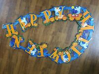 Vintage Happy Halloween Party Banner Cutout Paper Sign