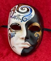 Maschera Di Venezia Primavera Blu IN Carta Pesta Per Collezione - 949 - CB1