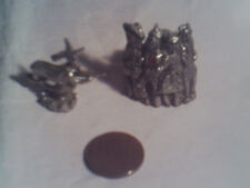 DOLL HOUSE MINIATURES COMSTOCK PEWTER WIZARD OF OZ DOROTHY WITCH LION TM SC RARE