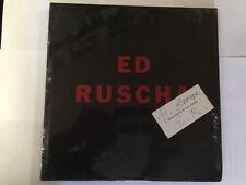 Ed Ruscha (Robert Miller Gallery) FIRST edition with SIGNED compliments E.R.