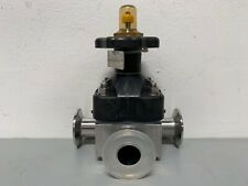 "ITT Pure-Flo CWP150 3-way Stainless Steel Diaphragm Valve w/ 1"" Sanitary Fitting"