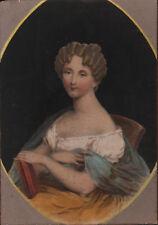 RITRATTO FEMMINILE CON LIBRO Ovale - Woman Portrait - Incisione Originale 1800