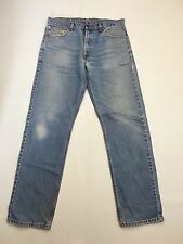 Men's Levi 521 'Straight' Jeans - W36 L34 - Faded Navy Wash - Good Condition