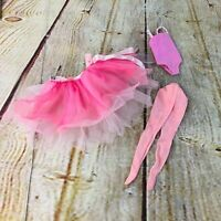 vtg barbie ballerina outfid pink tutu tights body suit legs doll clothes