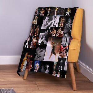 Freddie Mercury Farbig Foto Design Weich Fleece Überwurf Decke